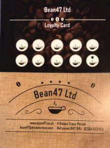 Bean 47 Loyalty Card