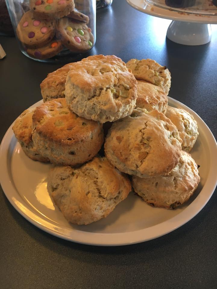 Rhubarb and Ginger Scones - Bean 47